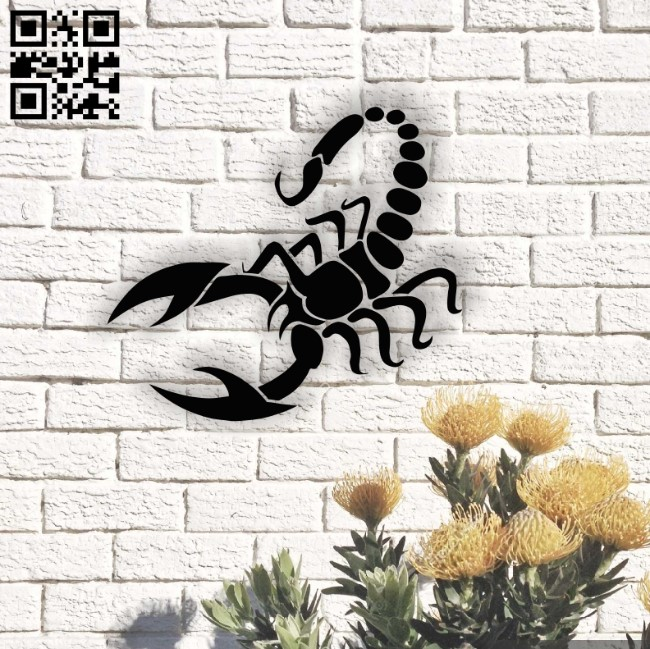 Scorpio zodiac E0013774 file cdr and dxf free vector download for laser cut plasma