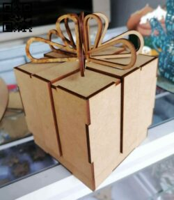 Small gift box E0013975 file cdr and dxf free vector download for laser cut