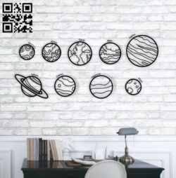 Solar system Planets E0013857 file cdr and dxf free vector download for laser cut plasma