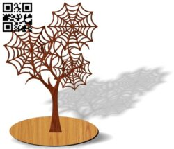 Spider web tree E0013744 file cdr and dxf free vector download for laser cut