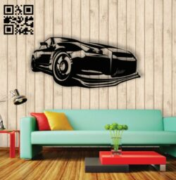 Sport car E0013834 file cdr and dxf free vector download for laser cut plasma