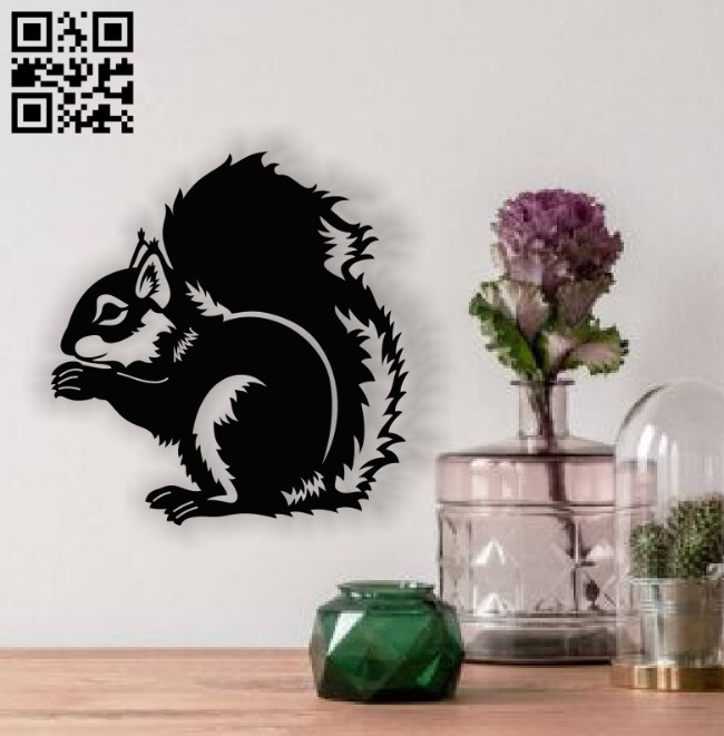 Squirrel E0013742 file cdr and dxf free vector download for cnc cut plasma