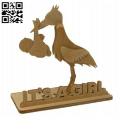 Stork E0013849 file cdr and dxf free vector download for laser cut