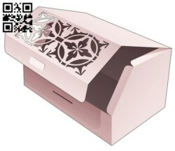 Top flip chamfered box E0014074 file cdr and dxf free vector download for laser cut