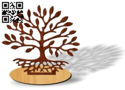 Tree E00137881 file cdr and dxf free vector download for laser cut plasma