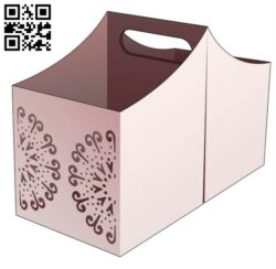 Twin handle box E0014072 file cdr and dxf free vector download for laser cut