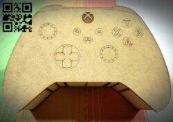 Video game control box E0013895 file cdr and dxf free vector download for laser cut