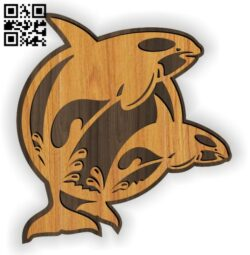 Whale E0013937 file cdr and dxf free vector download for laser cut
