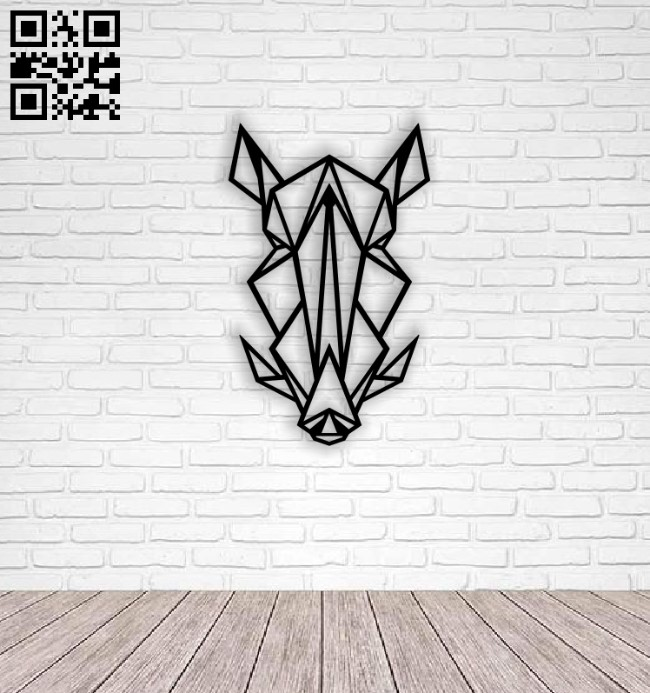 Wild boar head E0014034 file cdr and dxf free vector download for laser cut plasma