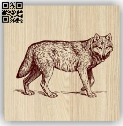 Wolf E0013758 file cdr and dxf free vector download for laser engraving machine