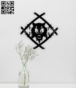Wolf E0014042 file cdr and dxf free vector download for laser cut plasma