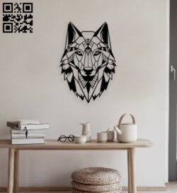 Wolf head E0014032 file cdr and dxf free vector download for laser cut plasma