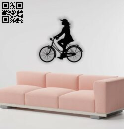 Women on bike E0013794 file cdr and dxf free vector download for laser cut plasma
