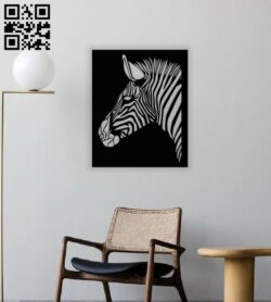 Zebra wall decor E0013965 file cdr and dxf free vector download for laser cut plasma