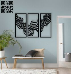 Abstract large wall decor E0014415 file cdr and dxf free vector download for laser cut plasma