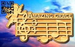 Amazing music E0014129 file cdr and dxf free vector download for laser cut