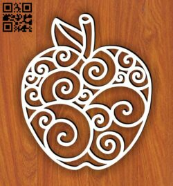 Apple E0014231 file cdr and dxf free vector download for laser cut plasma
