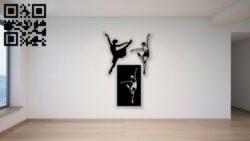 Ballet dancers E0014213 file cdr and dxf free vector download for laser cut plasma