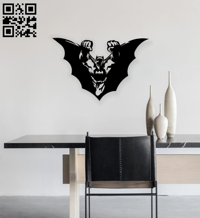 Bat man wall decor E0014258 file cdr and dxf free vector download for laser cut plasma