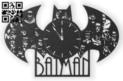Batman clock E0014165 file cdr and dxf free vector download for laser cut plasma