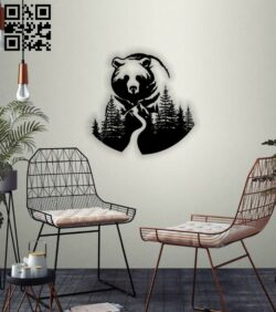 Bear E0014221 file cdr and dxf free vector download for laser cut plasma