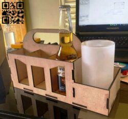 Beer box E0014116 file cdr and dxf free vector download for laser cut