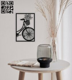 Bicycle wall decor E0014418 file cdr and dxf free vector download for laser cut plasma