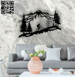 Biker wall decor E0014262 file cdr and dxf free vector download for laser cut plasma