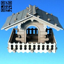 Bird house E0014330 file cdr and dxf free vector download for laser cut