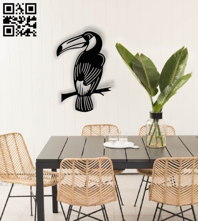 Bird on branch E0014099 file cdr and dxf free vector download for laser cut plasma