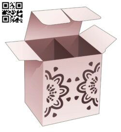 Box E0014310 file cdr and dxf free vector download for laser cut