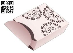 Box and lid with stenciled mandala E0014456 file cdr and dxf free vector download for laser cut