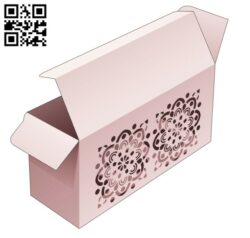 Box with mandala E0014309 file cdr and dxf free vector download for laser cut