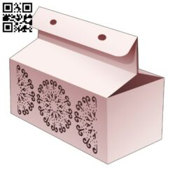 Box with stenciled circle  E0014458 file cdr and dxf free vector download for laser cut