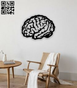 Brain E0014241 file cdr and dxf free vector download for laser cut plasma