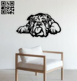 Bull dog E0014122 file cdr and dxf free vector download for laser cut plasma