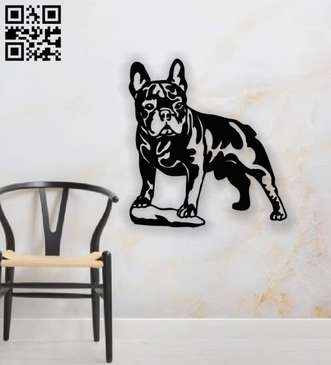 Bulldog E0014138 file cdr and dxf free vector download for laser cut plasma
