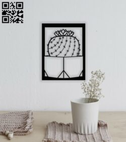 Cactus wall decor E0014168 file cdr and dxf free vector download for laser cut plasma