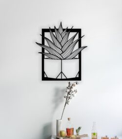 Cactus wall decor E0014169 file cdr and dxf free vector download for laser cut plasma