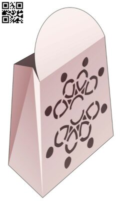 Cardboard bag E0014459 file cdr and dxf free vector download for laser cut