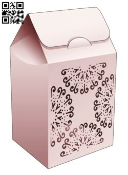 Cardboard flip bag box  E0014460 file cdr and dxf free vector download for laser cut