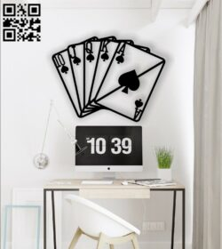 Cards wall decor E0014261 file cdr and dxf free vector download for laser cut plasma