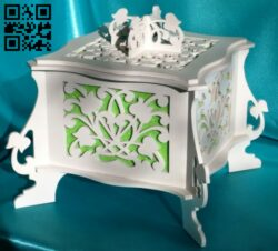 Casket E0014344 file cdr and dxf free vector download for laser cut