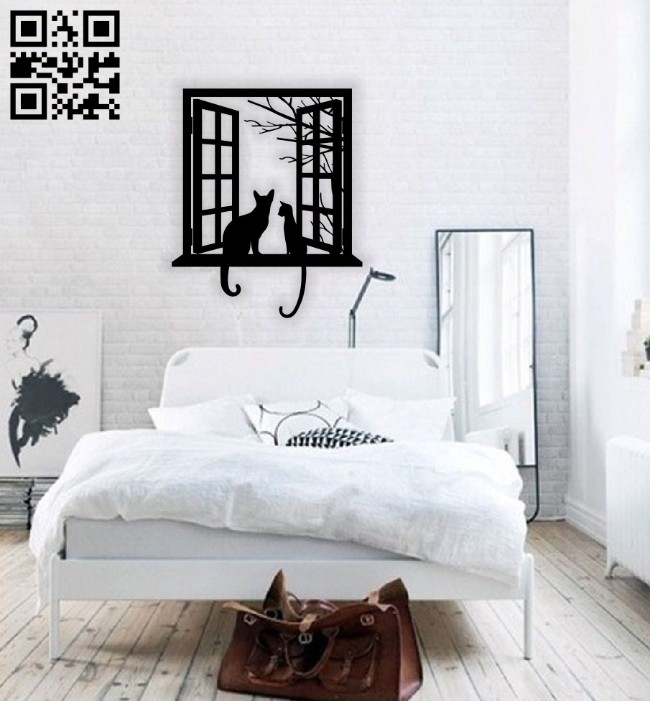 Cats wall decor E0014326 file cdr and dxf free vector download for laser cut plasma