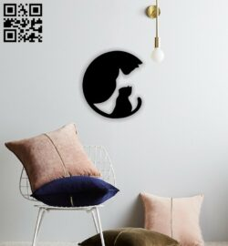 Cats wall decor E0014336 file cdr and dxf free vector download for laser cut plasma