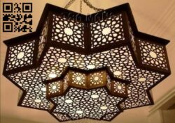Ceiling lamp E0014387 file cdr and dxf free vector download for laser cut