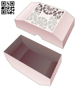 Chamfered box E0014308 file cdr and dxf free vector download for laser cut