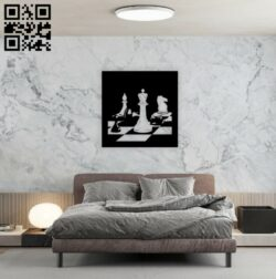Chess wall decor E0014225 file cdr and dxf free vector download for laser cut plasma