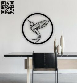 Circle bird E0014447 file cdr and dxf free vector download for laser cut plasma