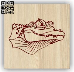Crocodile head E0014289 file cdr and dxf free vector download for laser engraving machine